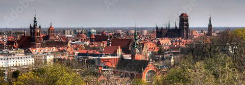 obraz PCV Panorama Gdańska