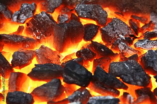 fototapeta na lodówkę Żywe węgle