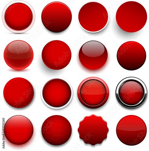 Poster  Runde rote Symbole.