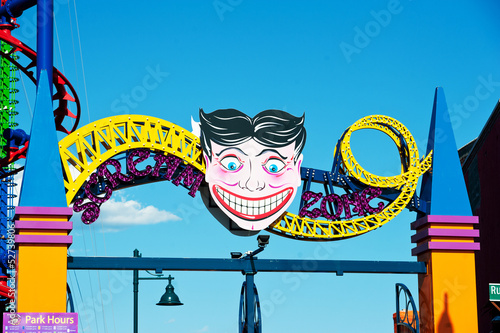 Papiers peints Attraction parc Coney Island's Amusement park entrance sign