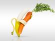 Leinwandbild Motiv Dancing for love of your fruit and vegetables