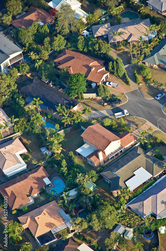 Foto op Canvas Australië Aerial view of the suburbs roofs near Brisbane, Australia.