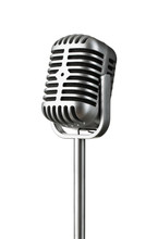 Vintage Silver Microphone Isol...