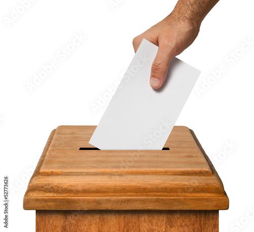 Valokuva  Hand voting.