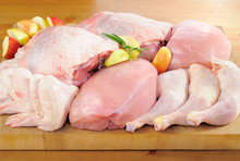 Poultry Meat Arrangement On Ki...