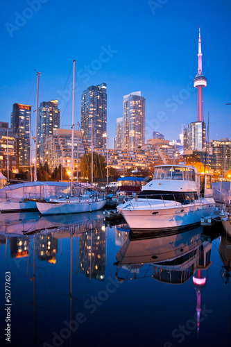 View of Toronto Yacht Club at Toronto harbor