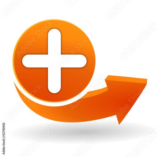 ajouter sur bouton web orange Canvas Print