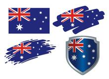 Various Flags Australia