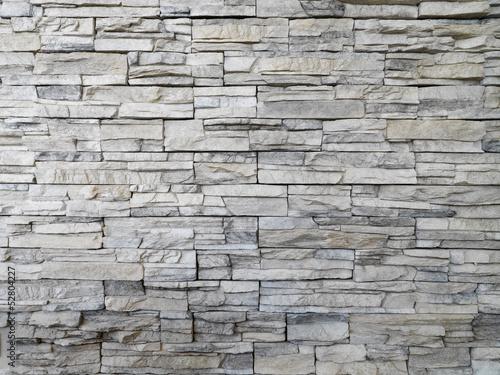 Photo sur Toile Cailloux parete rivestita di pietra