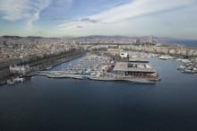 Aerial Photo Barcelona Port
