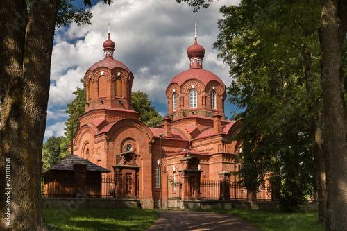 Obraz Cerkiew - Białowieża - fototapety do salonu
