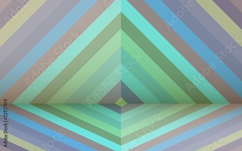 Deurstickers ZigZag Retro background with rhombus