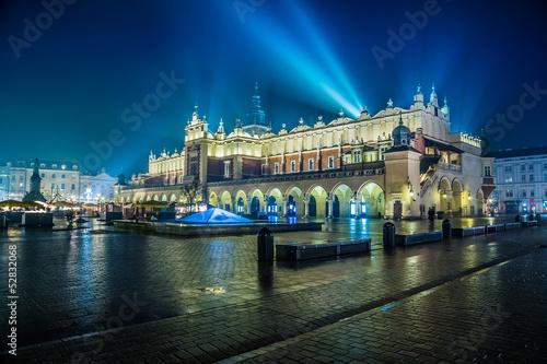 polska-krakow-rynek-w-nocy