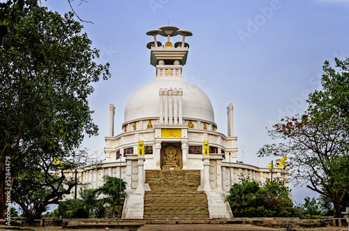 Fotografie, Obraz  Peace Temple in Bhubaneswar, India