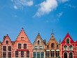 canvas print picture - Bruges houses