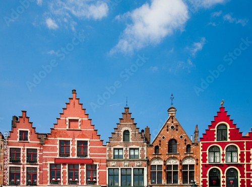 Canvas Prints Artistic monument Bruges houses