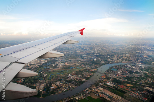 Bangkok view from the plane Canvas Print