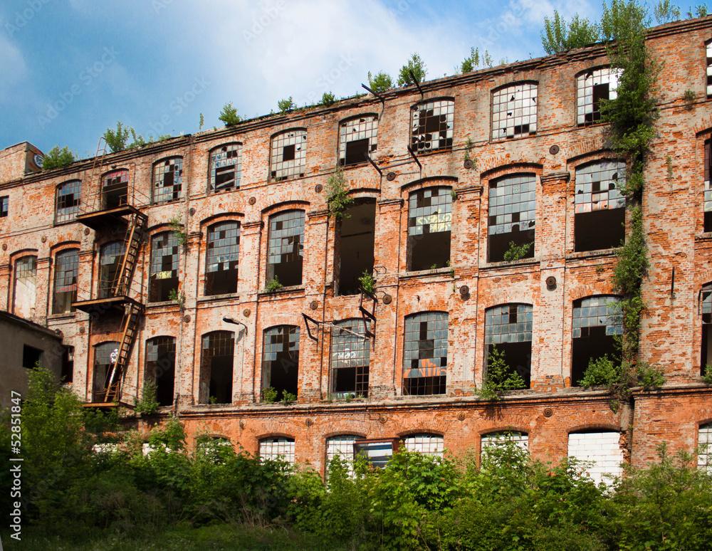 Stara fabryka na Księzym Młynie w Łodzi