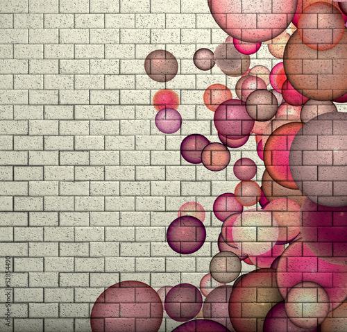 3d-mozaiki-plytki-sciana-z-cegiel-z-rozowym-babla-wzorem
