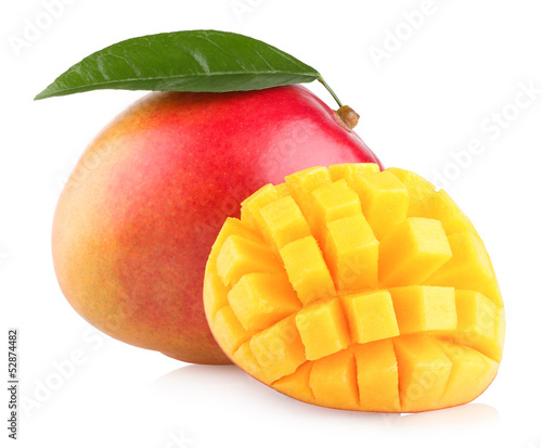 Fotografia, Obraz mango fruit isolated on white background