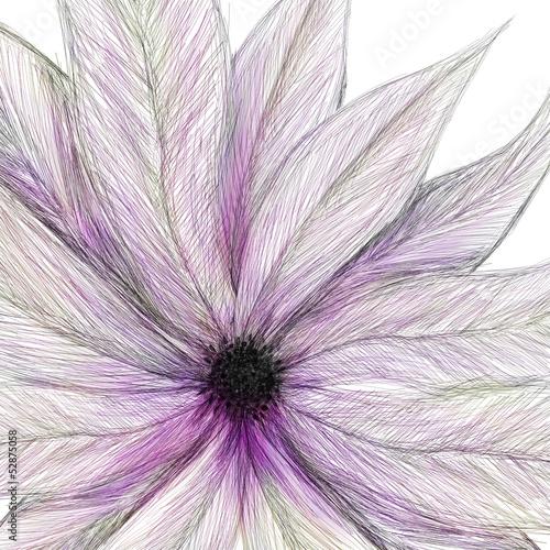 Naklejka dekoracyjna painted flower pink