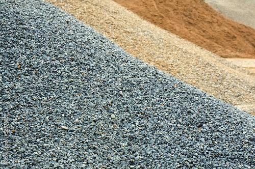 Fotografía  Kies, Sand, Splitt, Gesteinskörnung, Rohstoffe