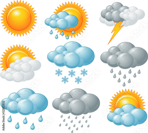 Printed kitchen splashbacks Fairytale World Weather icons