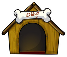 A Dog House With A Bone