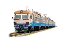 Suburban Electric Train On A W...
