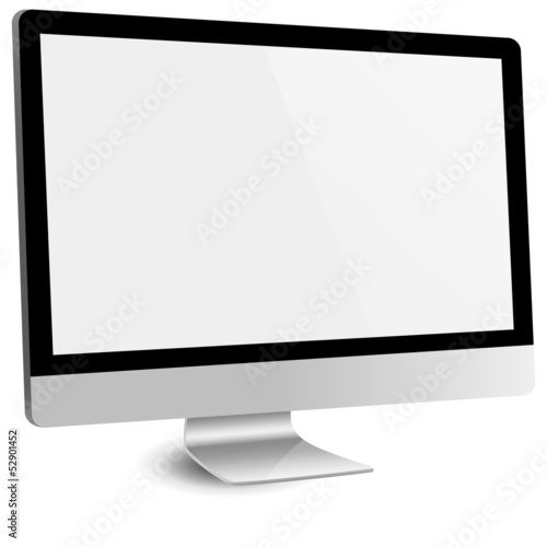Fotografia, Obraz  Computer Monitor with Blank Screen