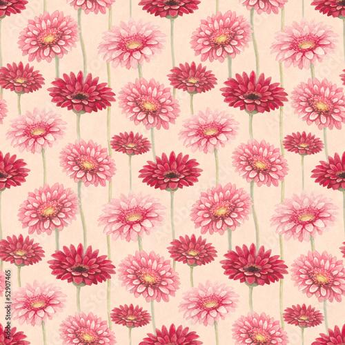 kwiaty-w-akwarela-gerber-wzor