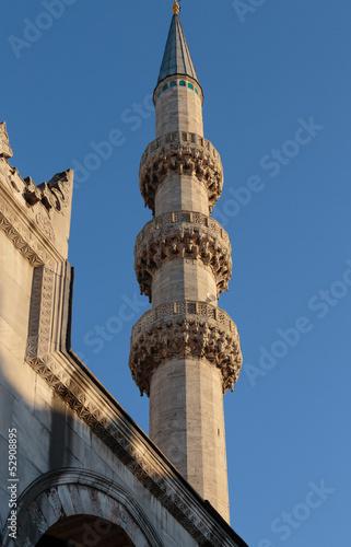 Fotobehang Midden Oosten New Mosque Minaret - Istanbul