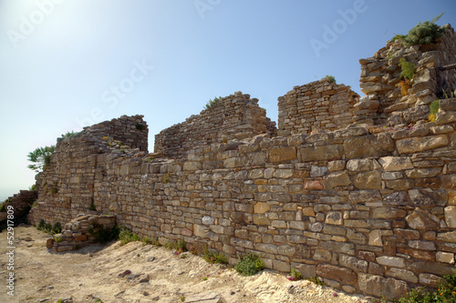 Fotografie, Obraz  Ancient wall near Theater in Segesta. Sicily, Italy