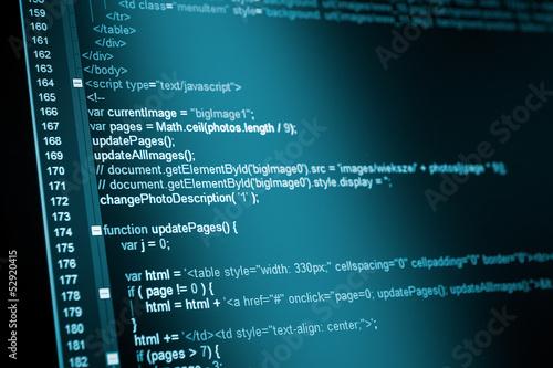 Fotografía  HTML web code