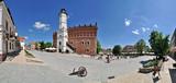 Fototapeta Miasto - Town hall in Sandomierz -Stitched Panorama