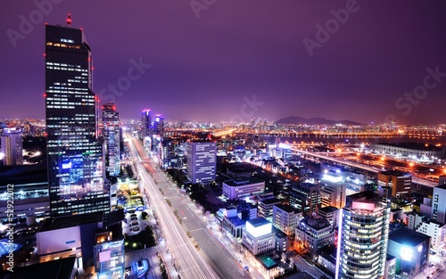 Fototapety, obrazy: Gangnam District of Seoul, South Korea