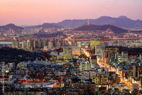 Foto op Canvas Seoel Seoul, South Korea Skyline