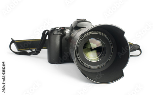 Fotografie, Obraz  DSLR camera white isolated