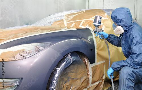 Professional car painting. Fototapeta