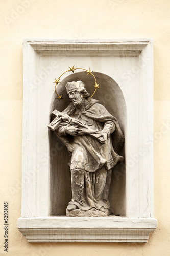 Photo  St. John of Nepomuk In Wall Niche