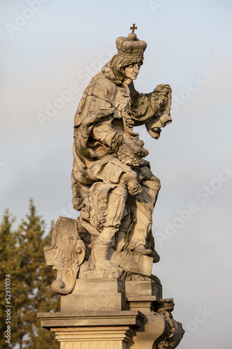 Photographie  Statue of St. Ludmilla of Bohemia