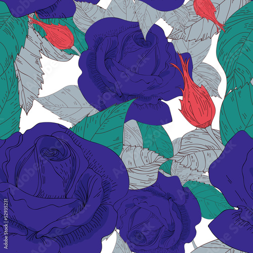 Poster Abstract bloemen Roses
