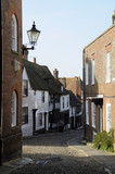 Buildings on the historic West Street in Rye UK