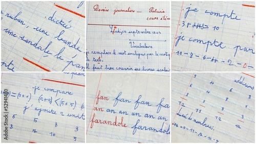 montage d'école français et mathématiques Poster Mural XXL
