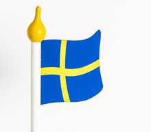 Swedish Flag In Wood