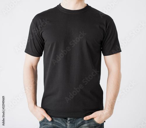 Fotomural man in blank t-shirt