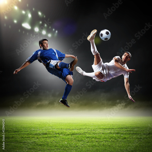 Juliste  Two football player