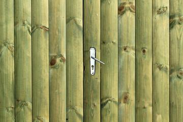 handle on wood door