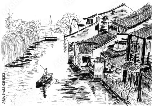 sketch The river village wuzhen