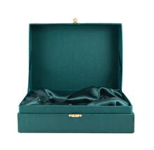 Green Silk Case Box Isolated